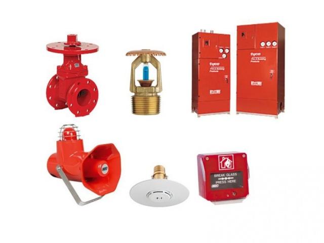 Priešgaisrinės įrangos komponentai