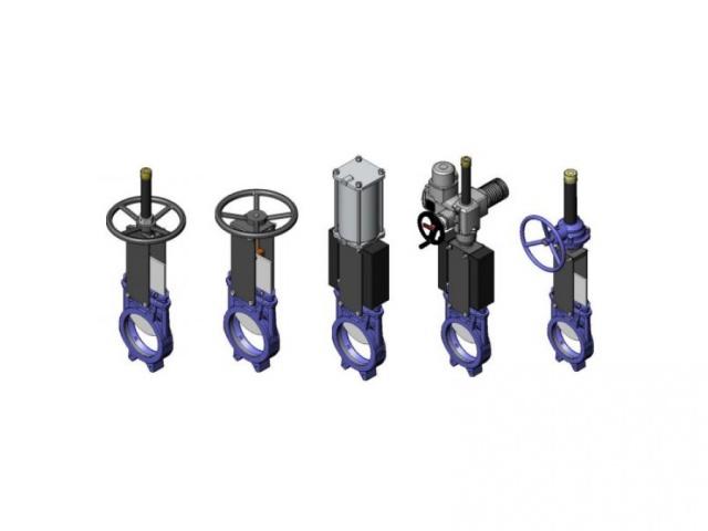Uždarančiosios peilinės rankinės ir automatinės sklendės